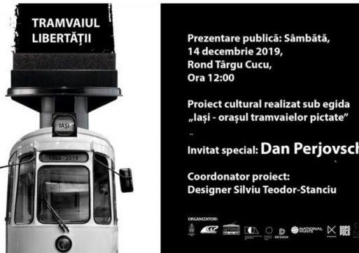 """""""Tramvaiul Libertății"""" va începe să circule prin Iași pe 14 decembrie"""