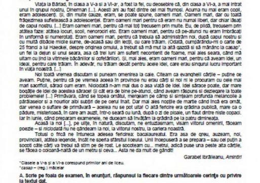 BACALAUREAT 2020. Modele de subiecte la Limba română